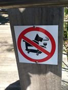 no skateboarding dogs